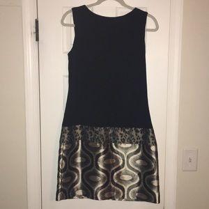 Adorable black dress with leopard design